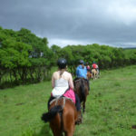 students - horseback riding